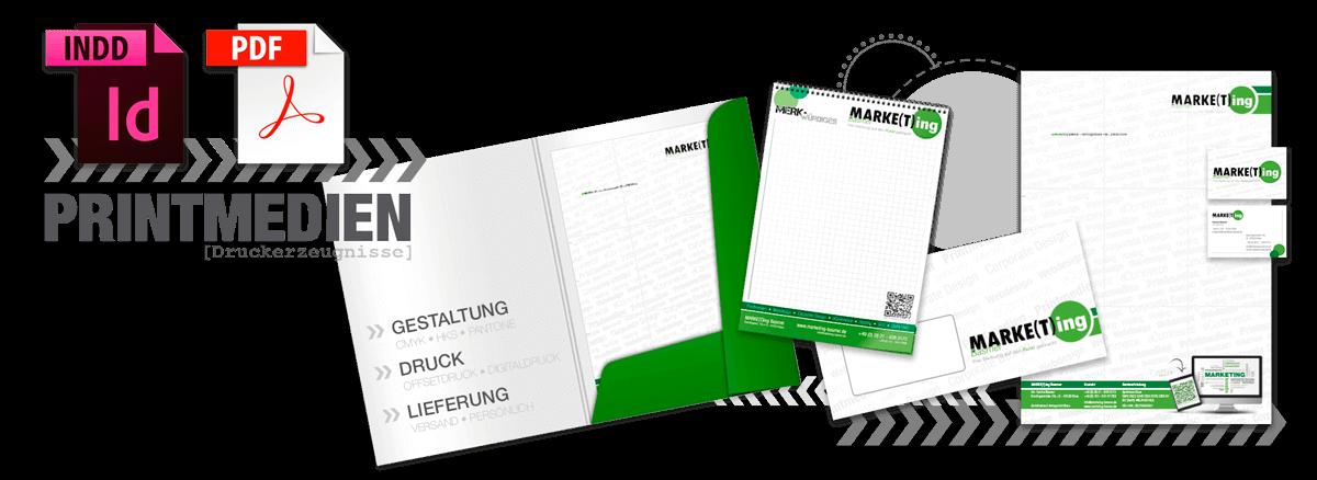 Gestaltung und Produktion von Druckerzeugnissen und Printmedien als Printwerbung von Marketing Basmer