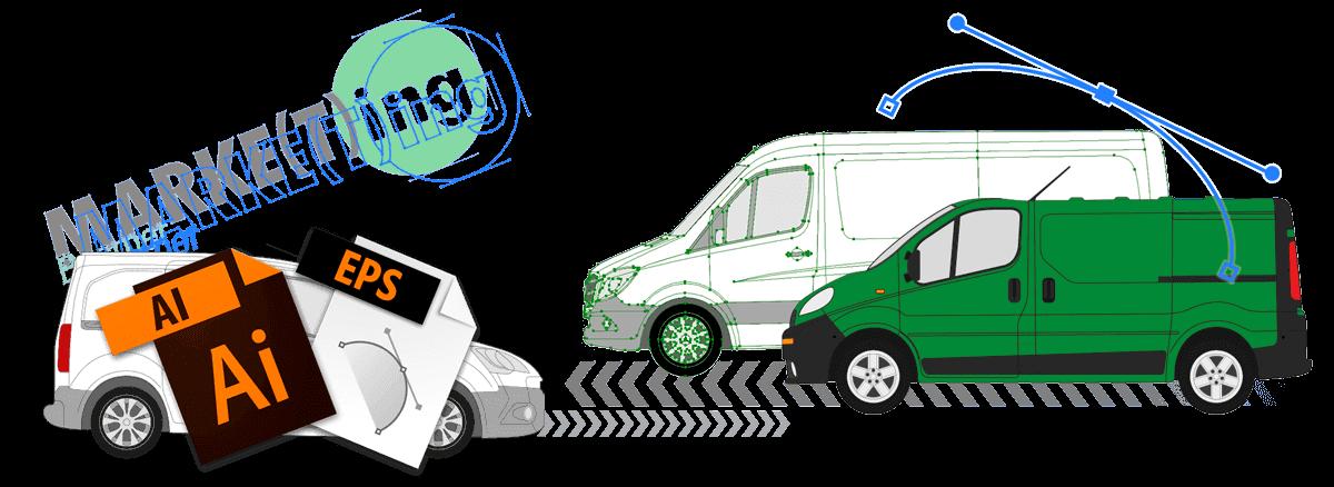 Beschriftungen - Folienbeschriftungen von Fahrzeugen, Fenstern und Werbetafeln für Ihre Unternehmenswerbung von Marketing Basmer